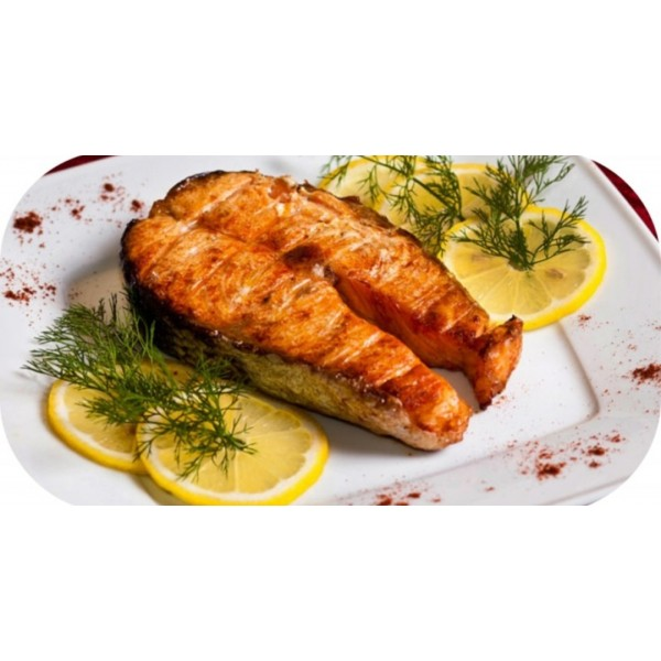 Рыба (стейк из лосося)